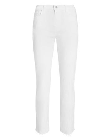 L'agence Sada High Rise Crop Jeans White 27