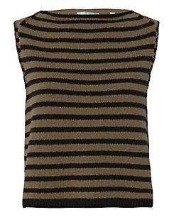 Vince Striped Sweater Tank