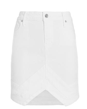 Rta Tempest Denim Mini Skirt White 28
