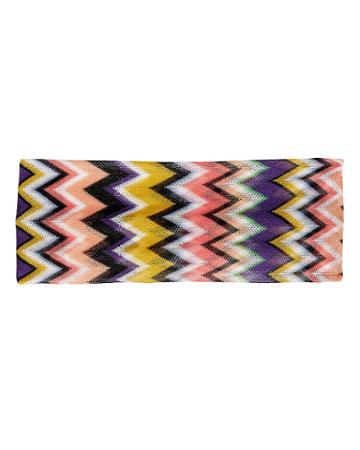 Missoni Mare Zig Zag Headband Purple/yellow/black 1size