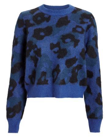Rag And Bone Rag & Bone Blue Leopard Sweater Blue-med L
