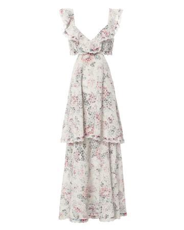 Zimmermann Jasper Honeycomb Tiered Floral Dress