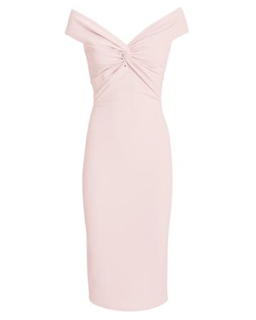 Katie May Harlow Midi Dress Blush S
