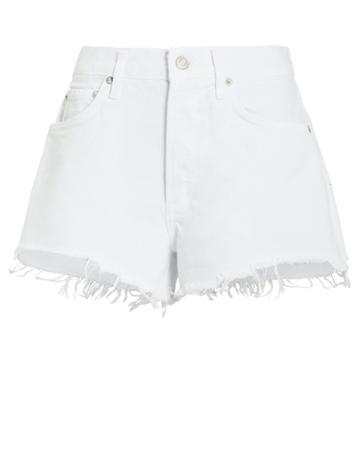 Agolde Parker Cut-off Denim Shorts White Denim 25