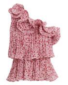 Amur Portia One Shoulder Top Pink P