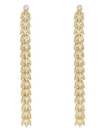 Apples & Figs Golden Seaweed Drop Earrings Gold 1size