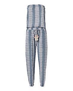 Coolchange Brooke Pacific Stripe Strapless Jumpsuit