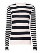 Joseph Striped Cashmere Sweater
