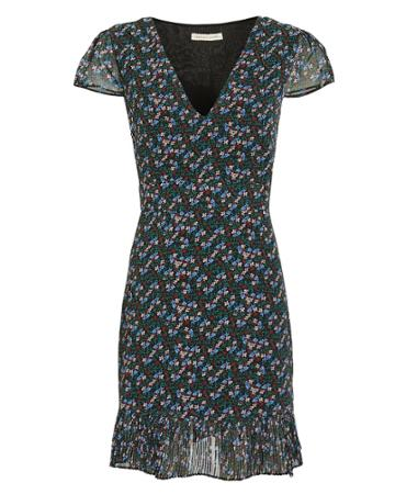 The East Order Nilaya Floral Mini Dress Black/floral M