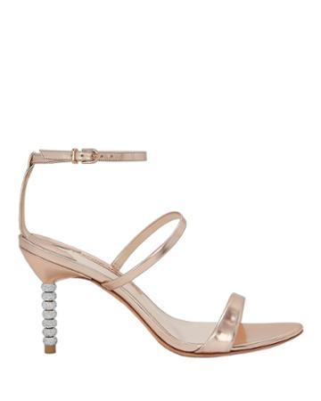 Sophia Webster Rosalind Crystal Heel Sandals Gold 36