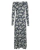 Les Reveries Floral Maxi Dress Navy Floral P