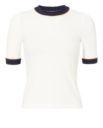 Alc Sw A.l.c. Ringer Ribbed Tee White S