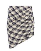 Veronica Beard Murphy Check Skirt Navy Zero