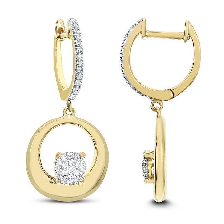 1/5 Ct. T.w. White Diamond 14k Gold Drop Earrings