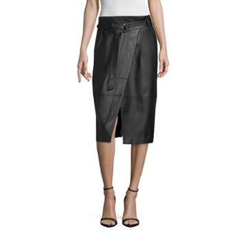 Worthington Pleather Envelope Skirt - Tall