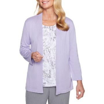 Alfred Dunner Smart Investments 3/4 Sleeve Crew Neck Layered Sweaters