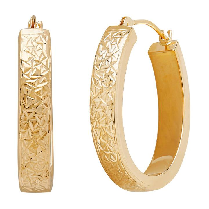 14k Gold 23mm Hoop Earrings