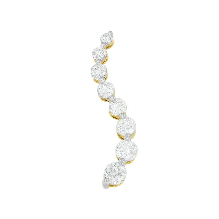 Womens 3 Ct. T.w. White Diamond 14k Gold Pendant Necklace