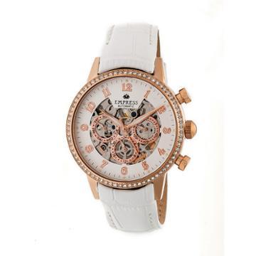 Empress Unisex White Strap Watch-empem2005