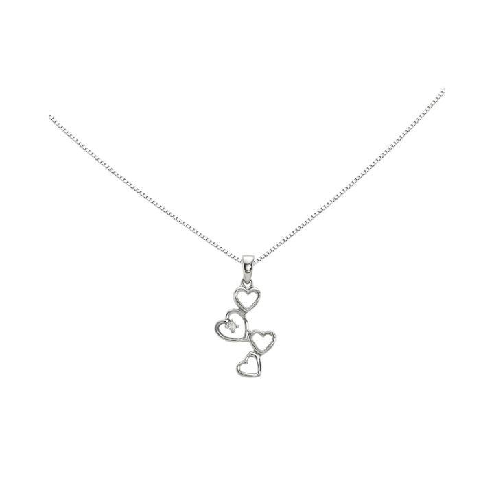 Diamond Accent 14k White Gold Heart Pendant