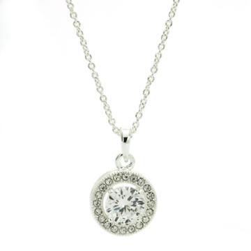 City X City White Crystal Pendant Necklace
