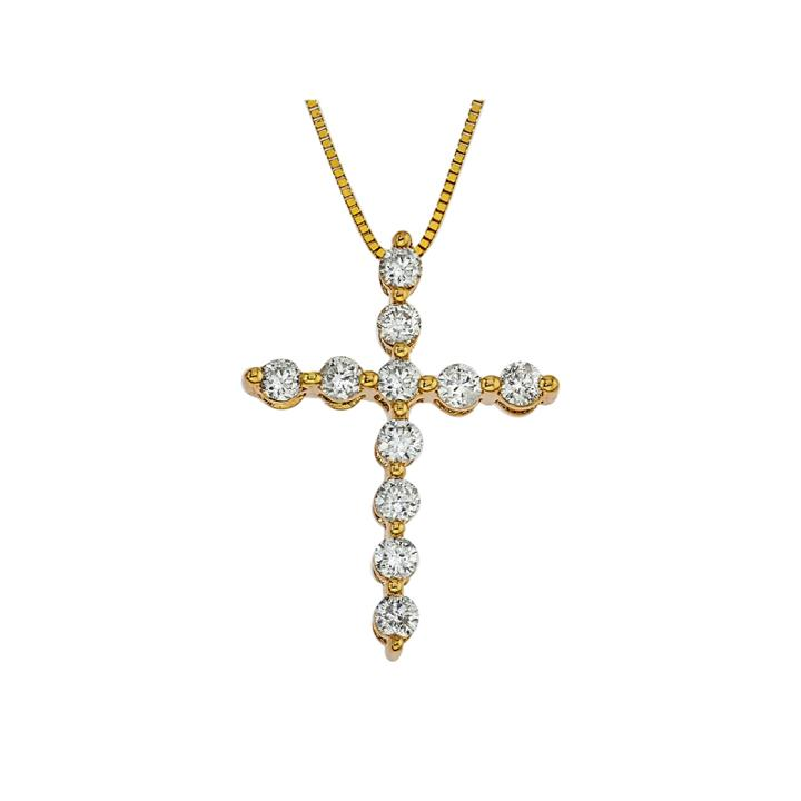 1/2 Ct. T.w. White Diamond 14k Gold Pendant Necklace