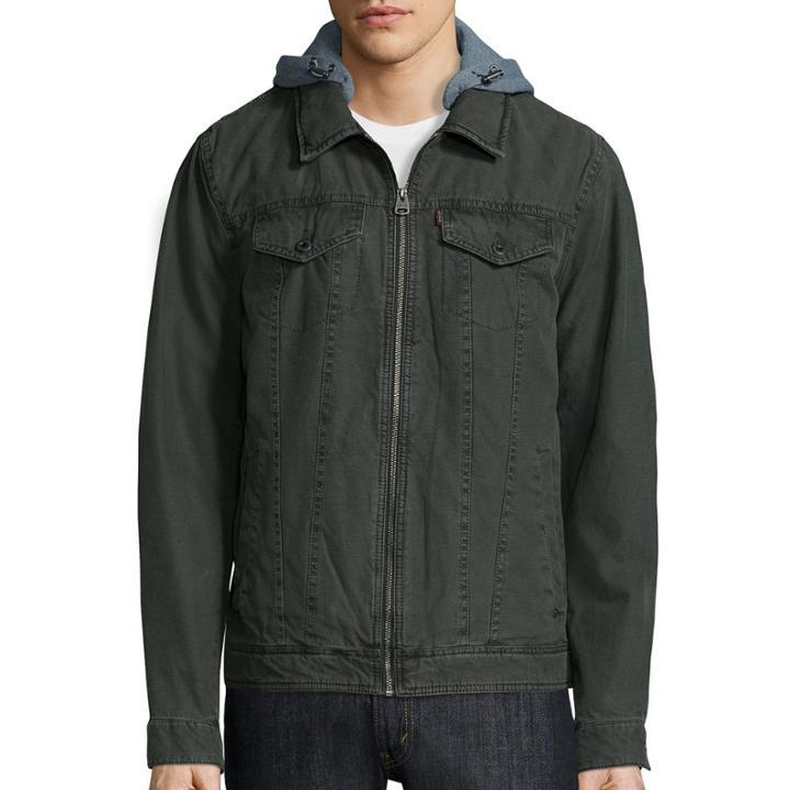 Levi's Hooded Cotton Trucker Jacket