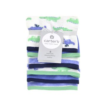 Carter's 6-pk. Alligator-print Washcloths
