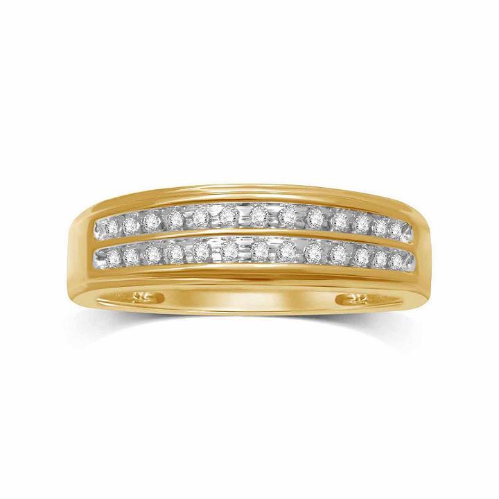 Mens 1/5 Ct. T.w. Diamond 10k Gold Band