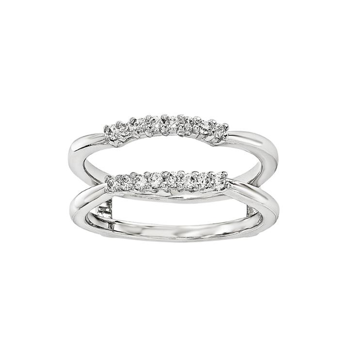 1/6 Ct. T.w. Diamond 14k White Gold Ring Guard
