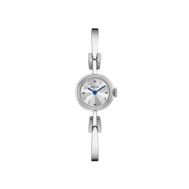 Bulova Classic Womens Stainless Steel Bangle Bracelet Watch 96l222