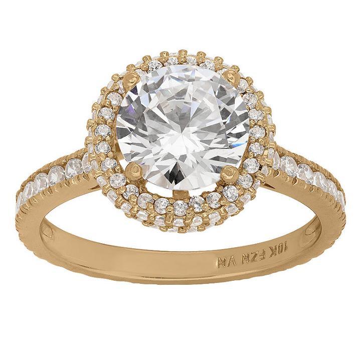 Diamonart Womens 2 1/2 Ct. T.w. Lab Created Cubic Zirconia White Engagement Ring