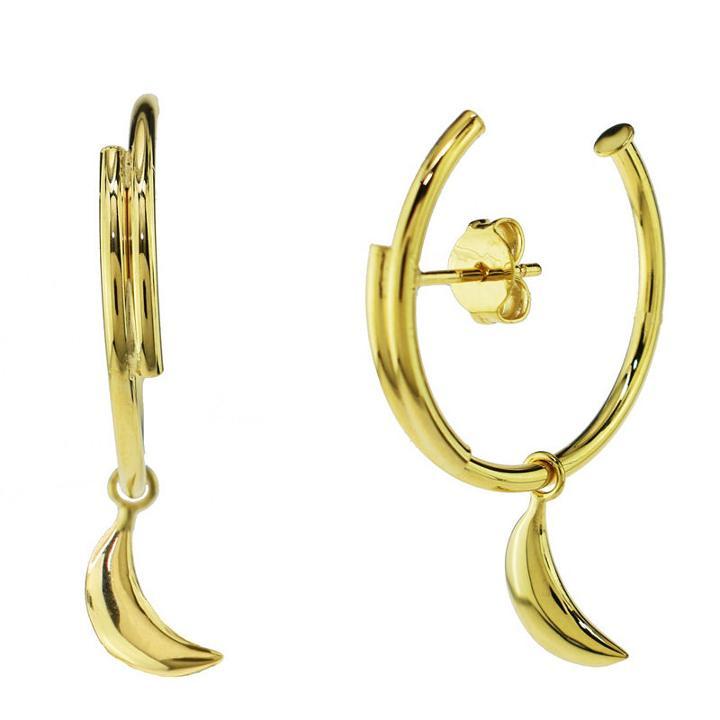 Sechic 14k Gold 31mm Hoop Earrings