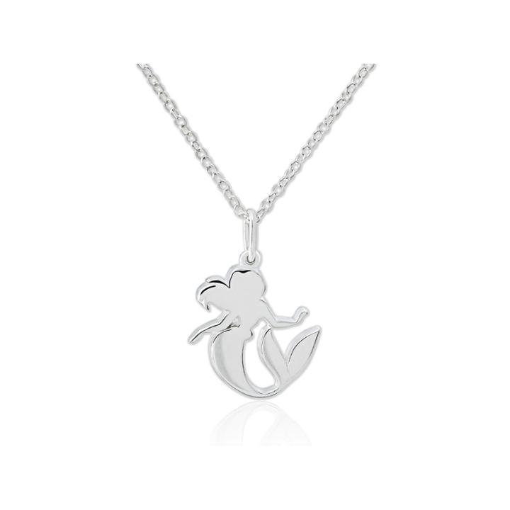 Disney Ariel Sterling Silver Pendant Necklace