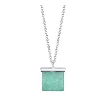 Bridge Jewelry Womens Green Silver Over Brass Pendant Necklace