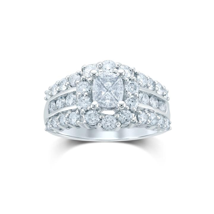 2 Ct. T.w. Fancy-cut Diamond 14k White Gold Ring