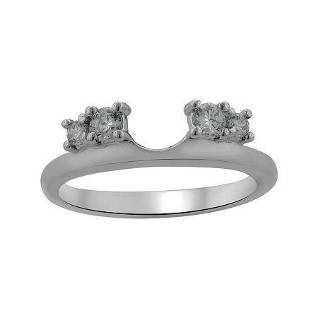 1/4 Ct. T.w. Diamond 14k White Gold Ring Guard