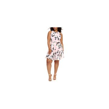 Fashion To Figure Claire Fit & Flare Dress-plus