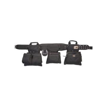 Clc Work Gear 5605 Black 5 Piece 18 Pocket Black Carpenter's Tool Belt Combo Set