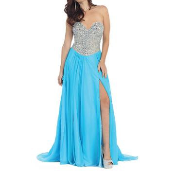 Sexy Strapless Prom Dress With Lace Up Back