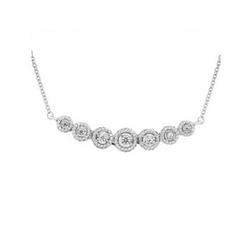 Womens 1/2 Ct. T.w. White Diamond Y Necklace