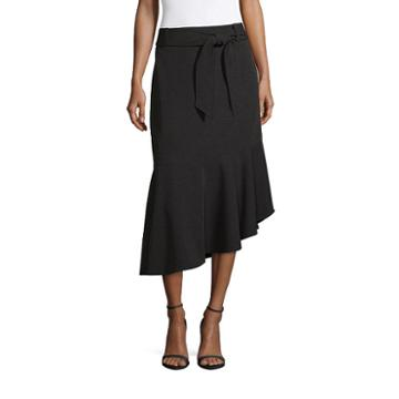 Worthington Tie Waist Midi Skirt - Tall