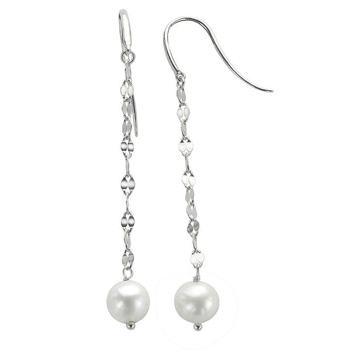 7-8mm Cultured Freshwater Pearl Sterling Silver Earrings