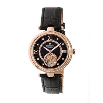 Empress Unisex Black Strap Watch-empem2105