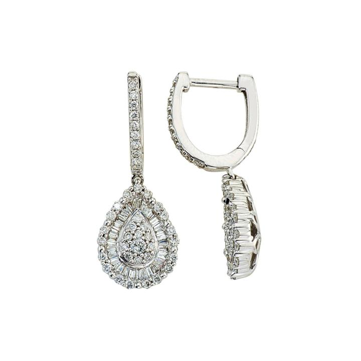 1 Ct. T.w. Diamond 14k White Gold Pear-shaped Earrings