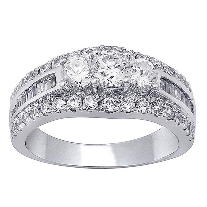 Love Lives Forever Womens 1 1/2 Ct. T.w. Round White Diamond 14k Gold Engagement Ring