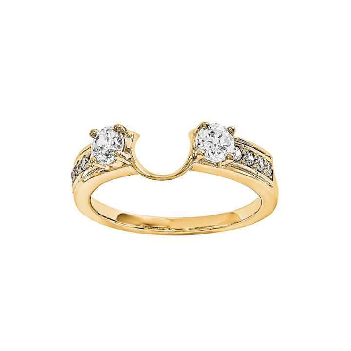 5/8 Ct. T.w. Diamond 14k Yellow Gold Ring Wrap