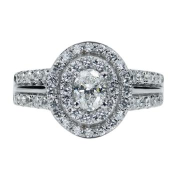 Modern Bride Signature Womens 1 1/2 Ct. T.w. Genuine Diamond Engagement Ring
