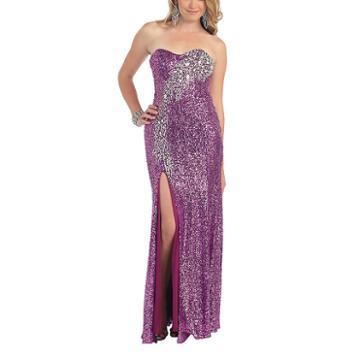 Sparkling Bar Bat Mitsvah Evening Gown