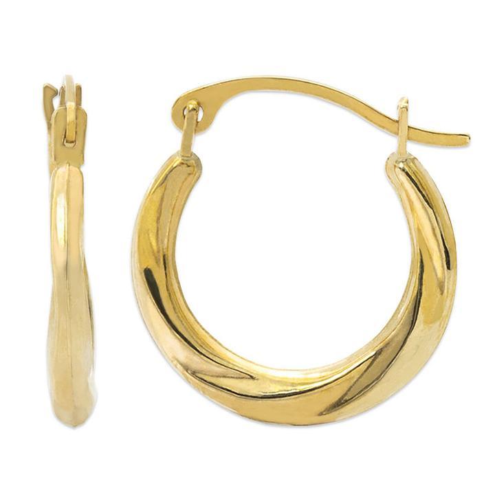 14k Gold 15.9mm Hoop Earrings